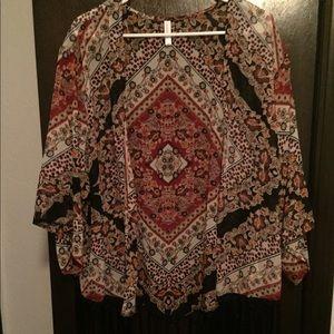 Multi print shawl